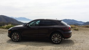 Porsche Macan in Angeles National Forest