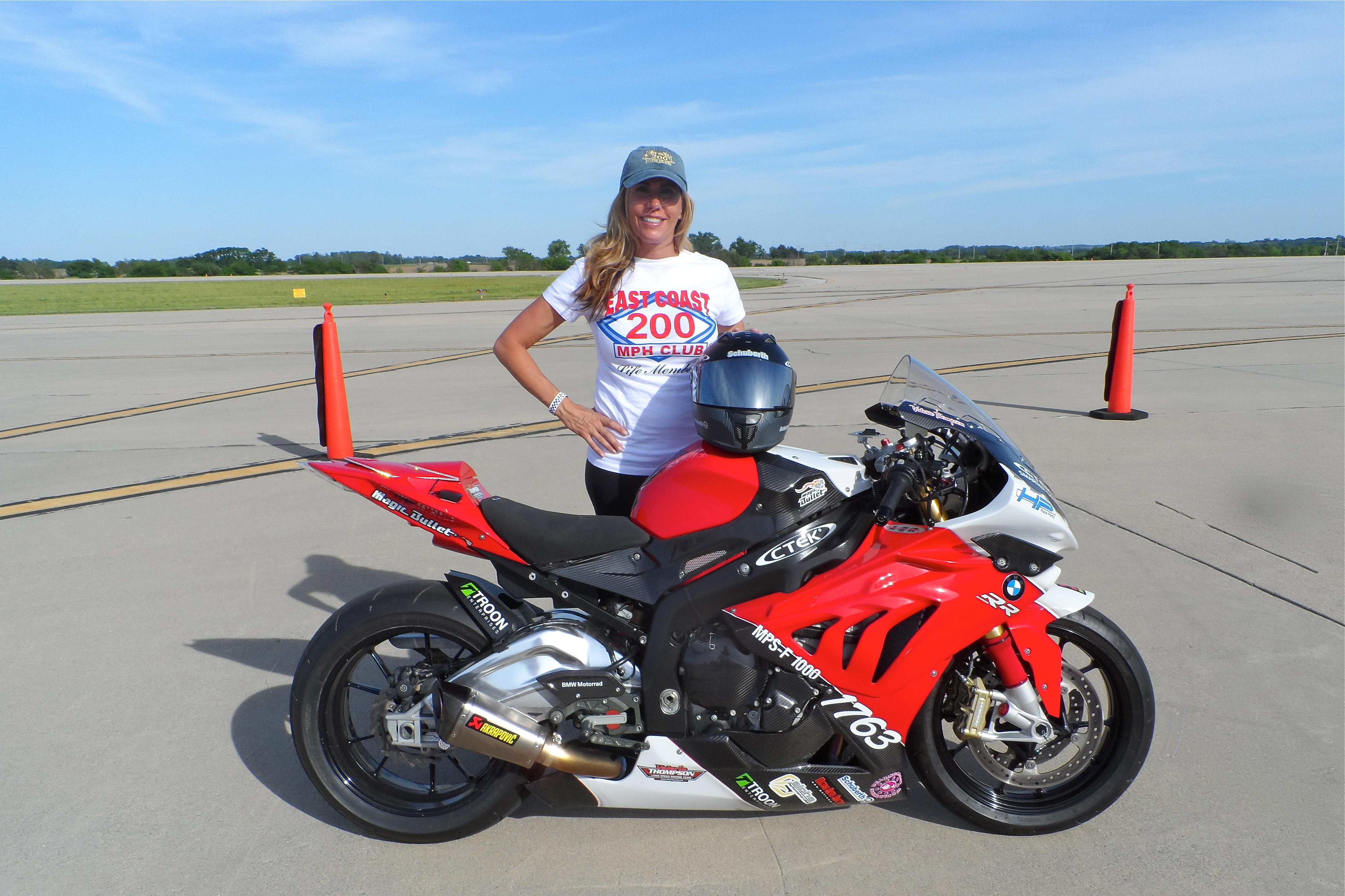 Valerie Thompson Bmw Racing Legend Attends Motorrad Days In Germany