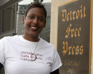 "Oneita Jackson, Creater of the ""Detroiter from Detroit"" t-shirt line."