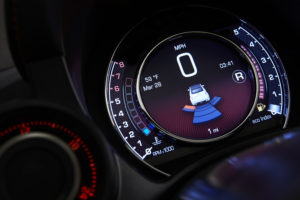 For 2016, the high-performance Fiat 500 Abarth Cabrio instrument cluster